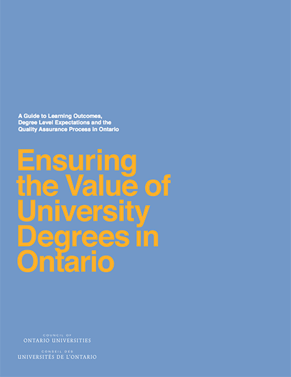 Ensuring the Value of University Degrees in Ontario