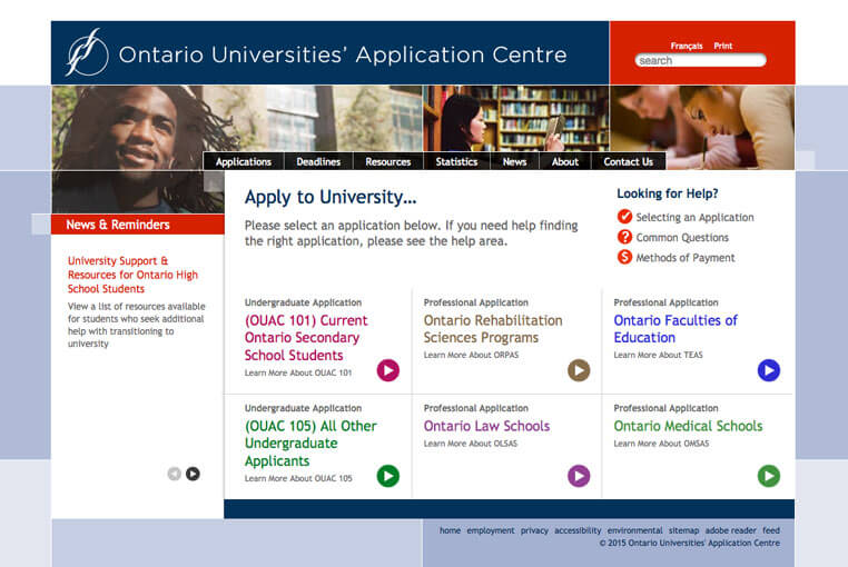 Ontario Universities Application Centre (OUAC)