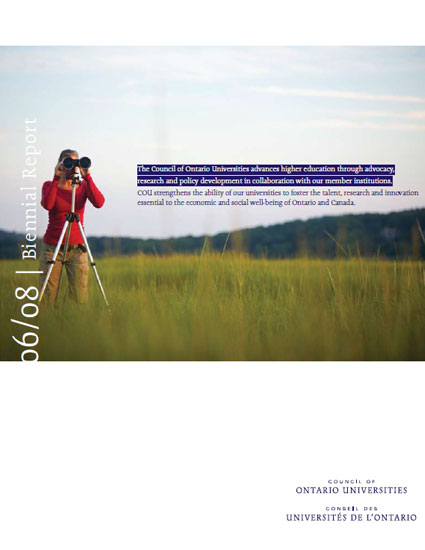 COU Biennial Report 2006-08
