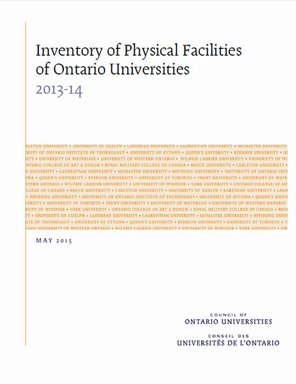 Inventory of Physical Facilities of Ontario Universities 2013-14
