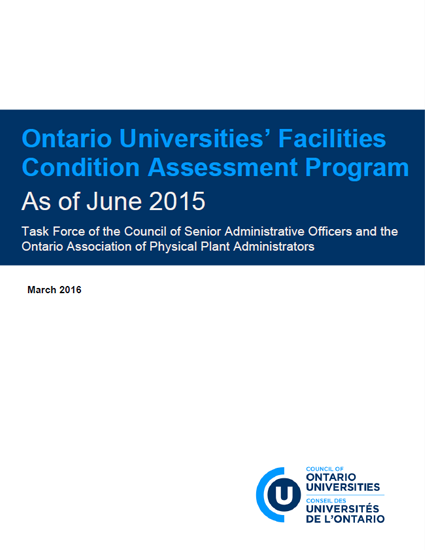 Ontario Universities' Facilities Condition Assessment Program As of June 2015