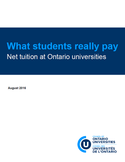 What students really pay: Net tuition at Ontario universities