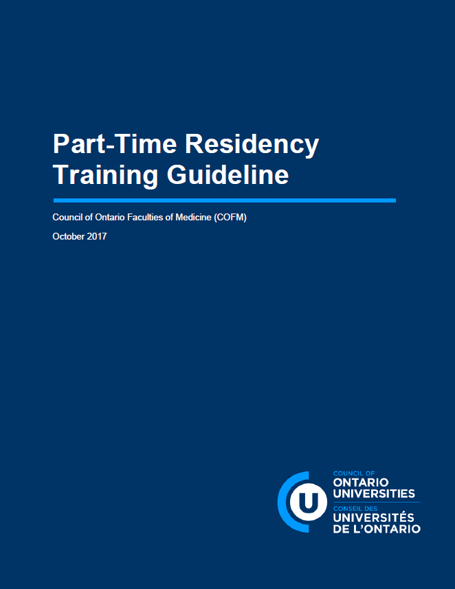 Part-Time Residency Training Guideline