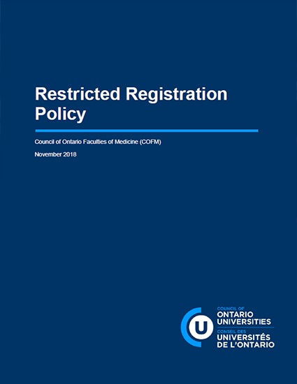 Restricted Registration Policy