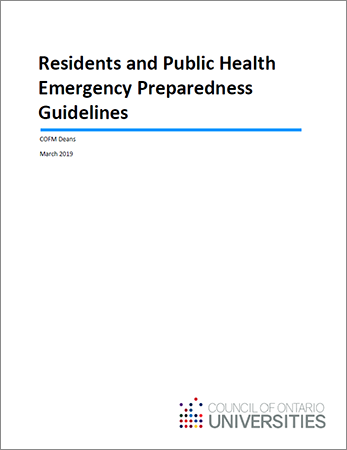 Residents and Public Health Emergency Preparedness Guidelines