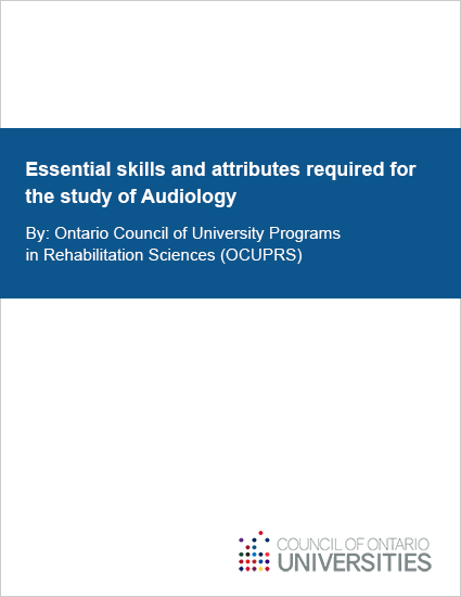 Essential skills and attributes required for the study of Audiology