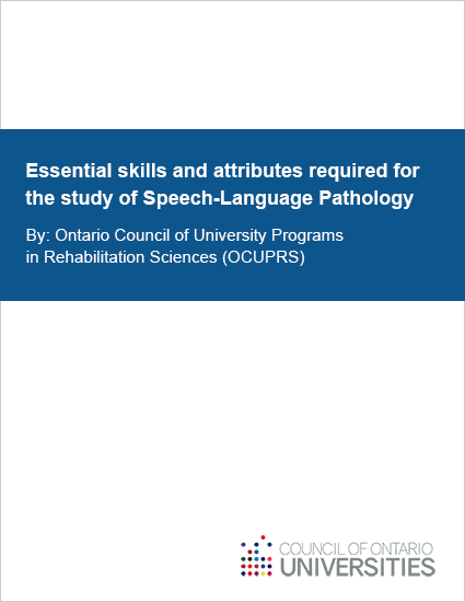 Essential skills and attributes required for the study of Speech-Language Pathology