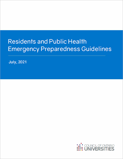 Residents and Public Health Emergency Prepareness Guidelines
